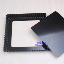 Pizza Pan Pie dish Black Square Baking Mold  Chrysanthemum Decorating Tools