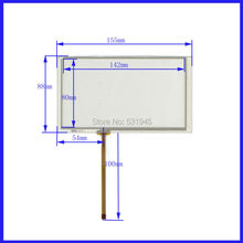 цены New 6.2 Inch Touch Screen 155mm*88mm  for 6.2 GPS GLASS 155*88  for tble compatible XWT564 for gps touch on TM062RDH03