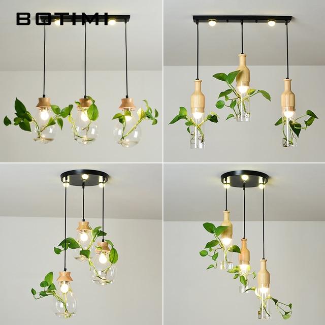 BOTIMI Modern E27 Pendant Lights For Dining Room Designers Pendant Lamp Decor Hanging Lamp DIY Lighting Order Comes Witout Plant