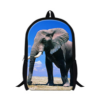 Fashion 8 Style Elephant Printing Mens Backpack School Shoulder Bags For Teenagers Casual 16 Inch Preppy