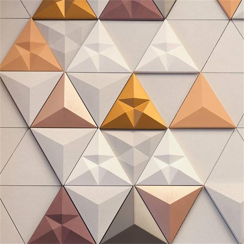 Triangular cement wall brick silica gel mould concrete concave and convex TV background wall decoration mould