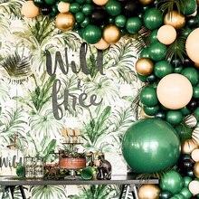 30 sztuk 5/10/12 cal ciemny zielony lateks złoty metalowy balon helem konfetti na imprezę urodzinową dekoracje dla dorosłych ślub dostaw