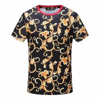 DUYOU Mens Designer T Shirts 2019 Printed 3D Flower Short Sleeve Tshirts Summer Hip Hop 100% Cotton Tops Tees Streetwear