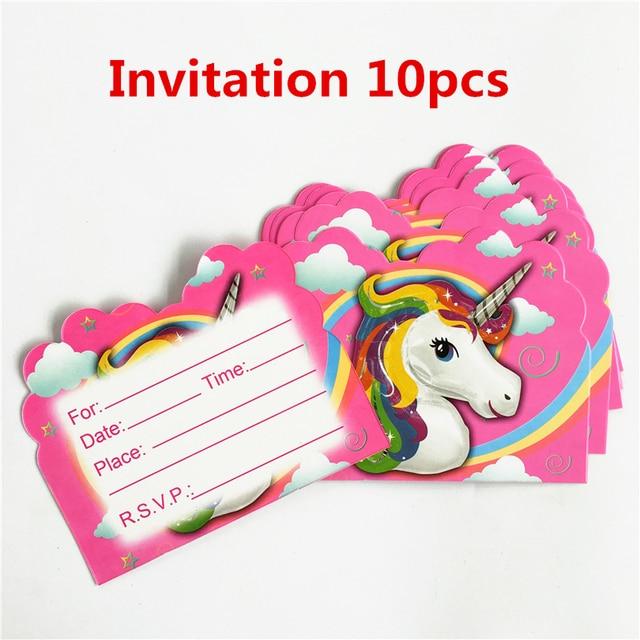 10pcslot invitation card unicorn horse kids birthday party supply 10pcslot invitation card unicorn horse kids birthday party supply event party supplies party decoration stopboris Choice Image