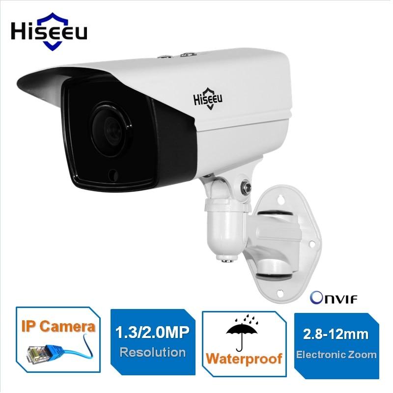 ФОТО 960P 1080P Network IP Camera CCTV motor vari focal 2.8-12mm Electronic Zoom POE Bullet Night Vision Waterproof IR-CUT ONVIF P2P