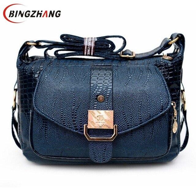 Women Messenger Bags Leather Handbag Mid Age Models Shoulder Bag Crossbody For Mom Handbags