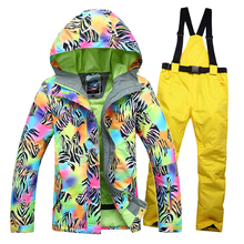 Free shipping Winter Women's ski suit outdoor sports ski jacket and pants skiing suit Women warm thick waterproof coat