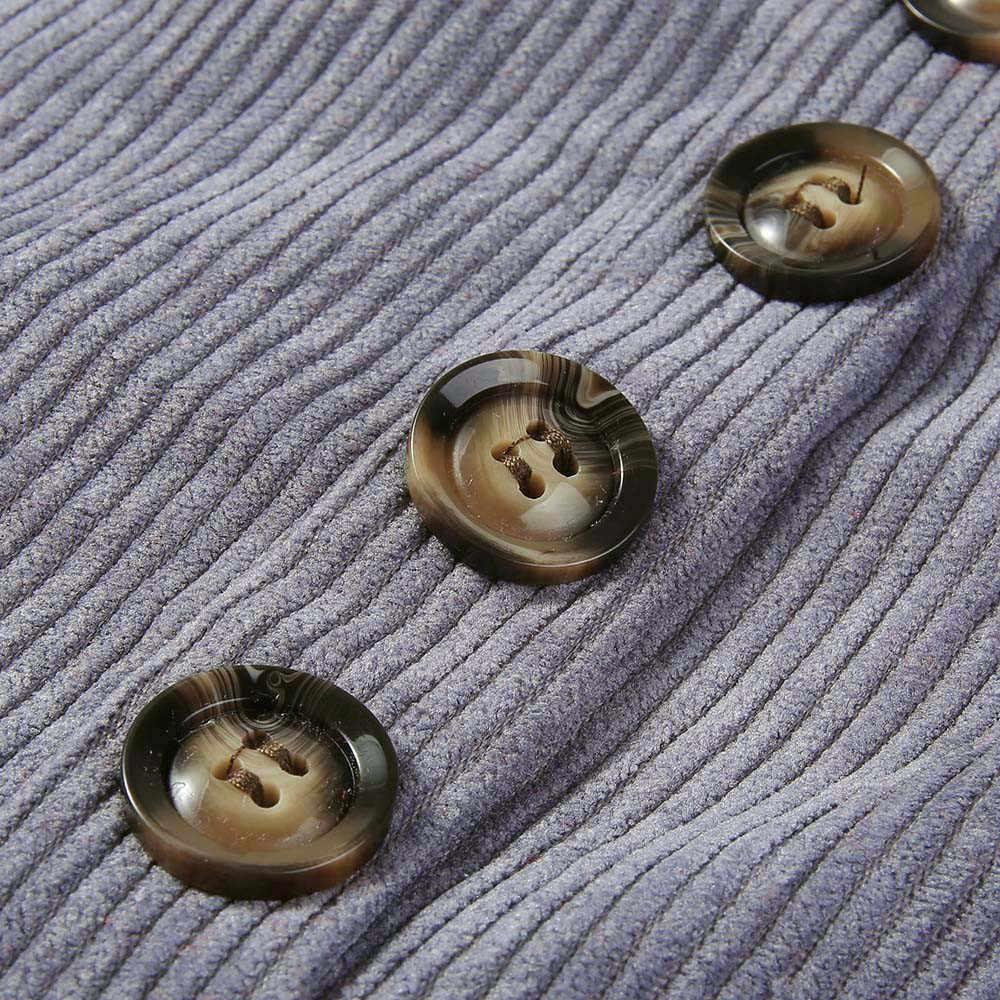 Nuove Donne A Vita Alta In Pelle Scamosciata Gonne 2020 Donna Autunno Inverno Solido Mini Gonne Con Button Decor Saia Feminina Jupe Femme 77!