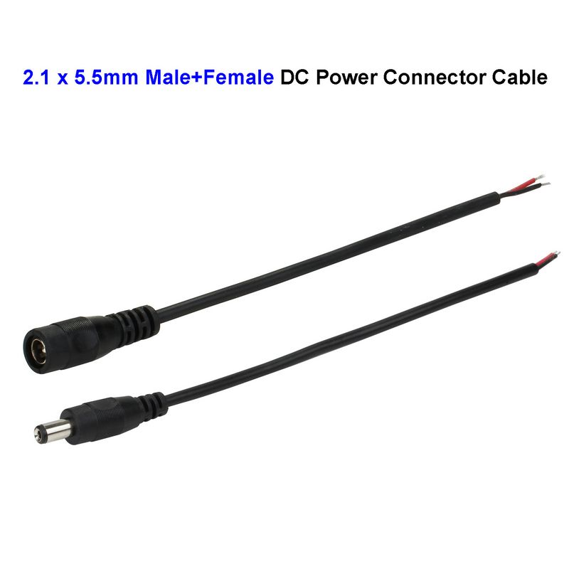 compare prices on dc power jack wiring online shopping buy low 2pair 5 5x2 1mm female dc connector wire male dc power jack connector adapter