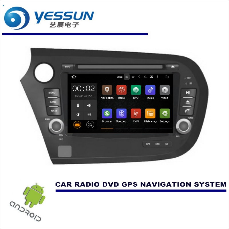 YESSUN Wince / Android Car Multimedia Navigation For Honda Insight 2009~2014 CD DVD GPS Player Navi Radio Stereo HD yessun for mazda cx 5 2017 2018 android car navigation gps hd touch screen audio video radio stereo multimedia player no cd dvd