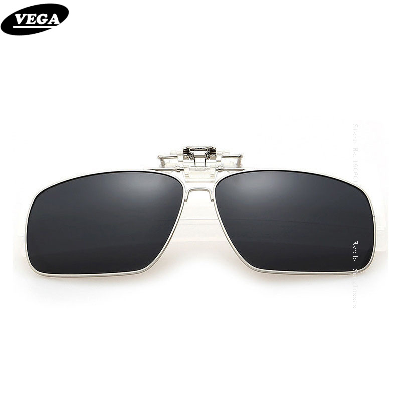 VEGA Polarized Fit Over Glasses Gafas de sol con clip de caja Gafas de sol Flip Up Eyewear Wrap Over Eyewear HD Vision UV400 5-8