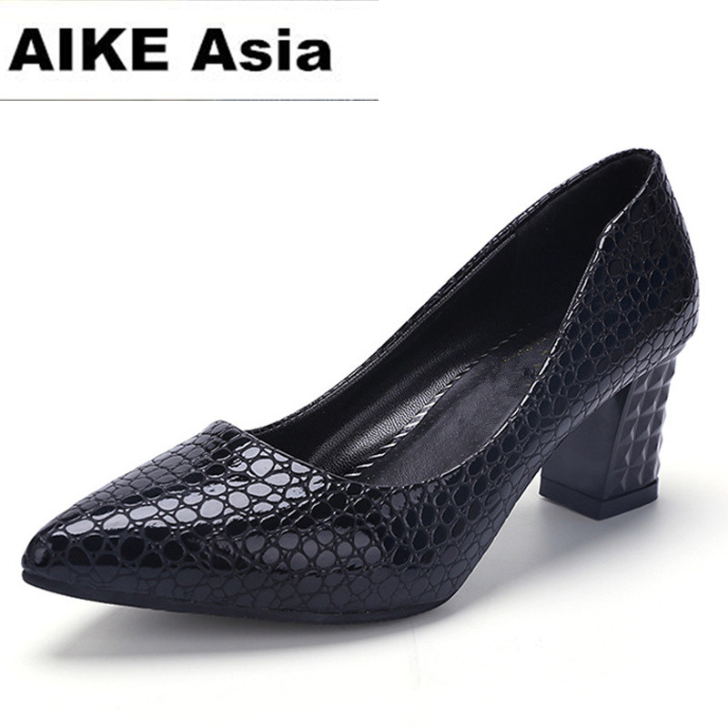 2018 Women Pumps Ankle Strap Thick Heel Women Shoes Square Toe Mid Heels Dress Work Pumps Comfortable Ladies Shoes 6cm famiao 2018 women pumps ankle strap thick heel women shoes square toe mid heels dress work pumps comfortable ladies shoes