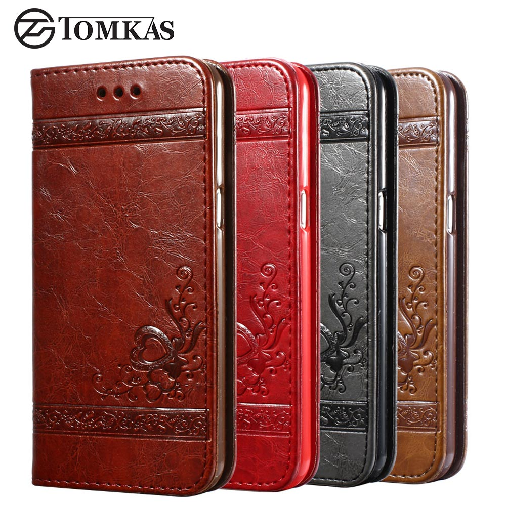 TOMKAS Luxury Wallet Case For Samsung Galaxy S8 Plus 3D ...