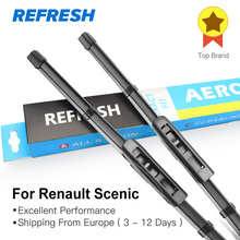 REFRESH Wiper Blades for Renault Scenic Fit Slider / Bayonet Arms Model Year from 2003 to