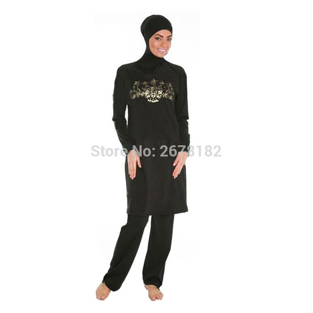 eca16561d3 swimming suit for women wear hijab swimwear women muslim plus size modest  swimsuits islamic wear black for women