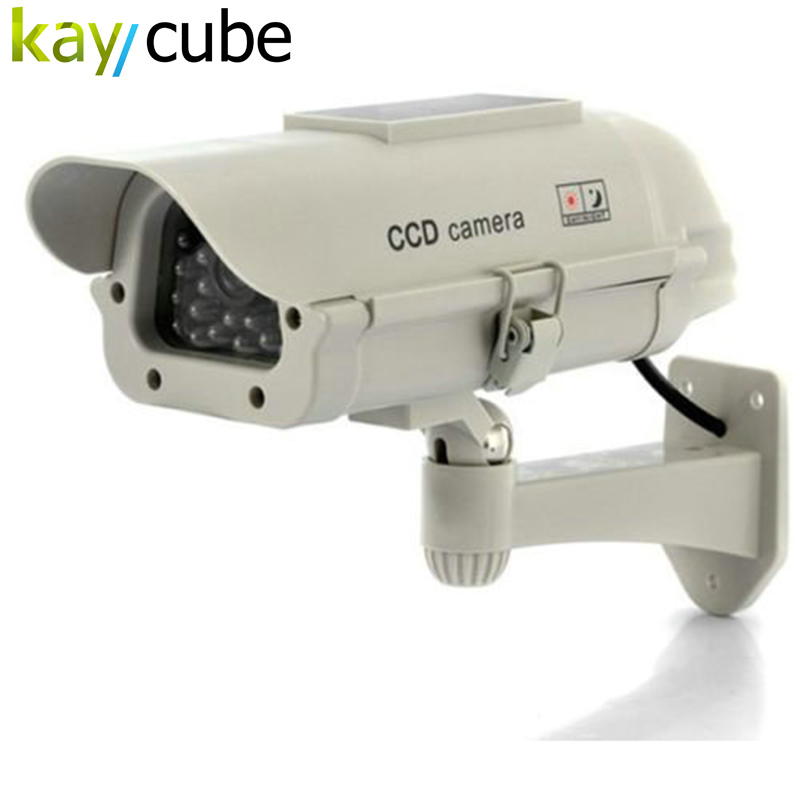 Solar Powered /AA battery CCTV Dummy Camera Fake CCTV Security Camera Flashing LED Surveillance Wholesale Dropping solar battery powered butterfly random color