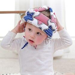 Segurança do bebê aprender a andar boné anti-colisão chapéu de proteção capacete de segurança macio confortável cabeça segurança & proteção ajustável