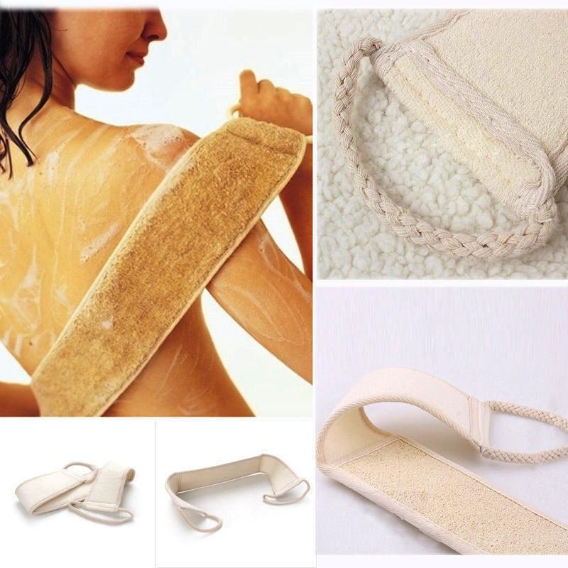 2018 1X Unisex 70cm X 8cm Soft Exfoliating Loofah Back Strap Bath Shower Massage