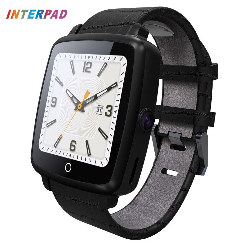 imágenes para Interpad bluetooth smart watch llamada telefónica grabación de vídeo del reloj despertador de la ayuda tarjeta micro sim para samsung s7 edge apple