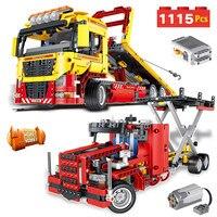 Технический создатель классический автомобиль Technic серии мотор управляемый трансформация Грузовик Автомобильные блоки игрушки для детей