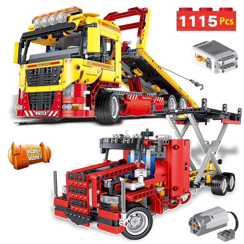 Technical Creator Classic Vehicle Technic Series Motor Driven Transformation Truck Car Blocks Toys For Children Boys