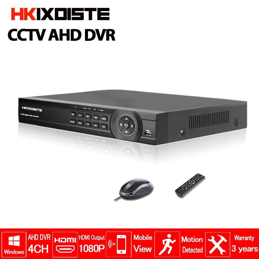 Factory 4CH AHD DVR 1080N CCTV Recorder Camera Network Onvif 4 Channel IP NVR 1080P Audio Input 4CH Multi-language Alarm 1080n 8ch ahd dvr nvr network cctv