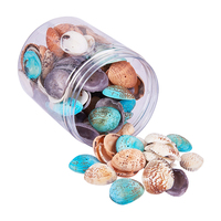100 120 Pieces Natural Dyed Seashells Sea Shells Accessories for Aquarium Fish Tank Wedding Display Craft Table Decoration Craft