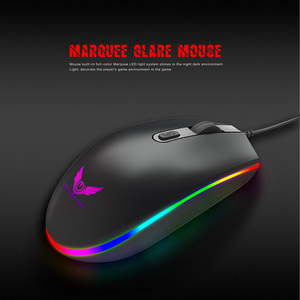 Image 4 - Optical USB Wired Gaming Mouse 1600DPI Mini Mice RGB Colorful Lights Wired Mouse For Laptop PC Computer Business Office Gamer