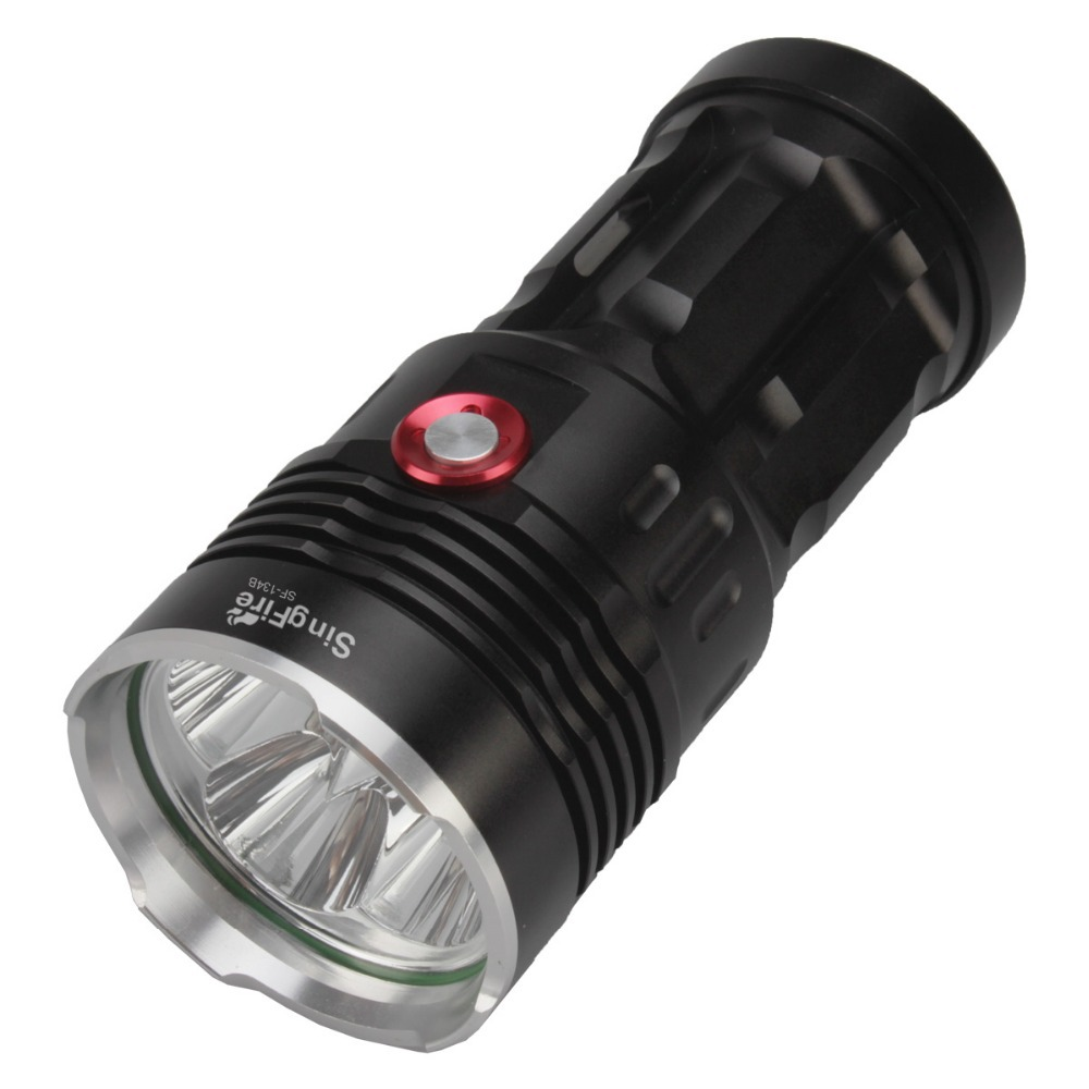 SingFire SF-134B 4 x Cree XM-L T6 2500lm White 3-mode High Light Flashlight - Black (4 x18650 Battery) singfire sf 544 4 mode 2500lm white led bicycle light w cree xm l t6 black 4 x 18650
