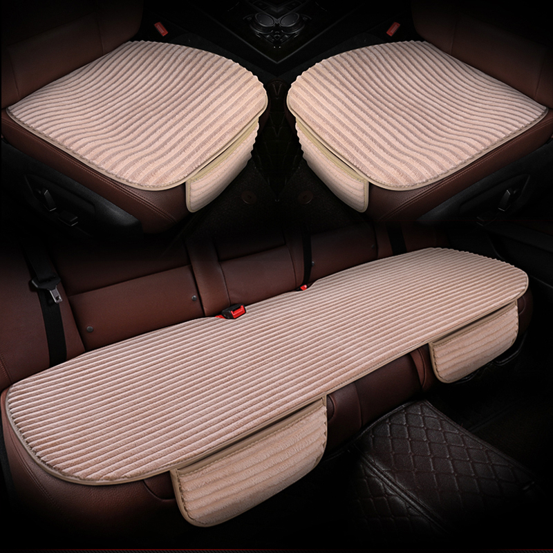 Car seat cover short plush car seat cushion anti slip mat pad Front Rear Back Seat protector Interior Accessories(China)
