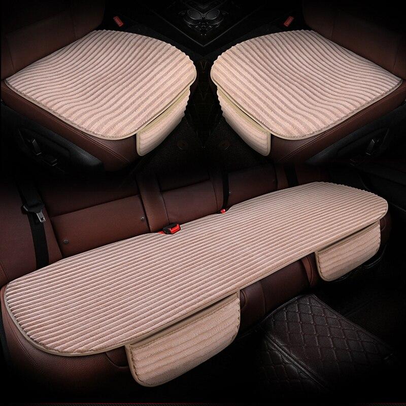 Car seat cover short plush car seat cushion anti slip mat pad Front Rear Back Seat protector Interior Accessories(China)