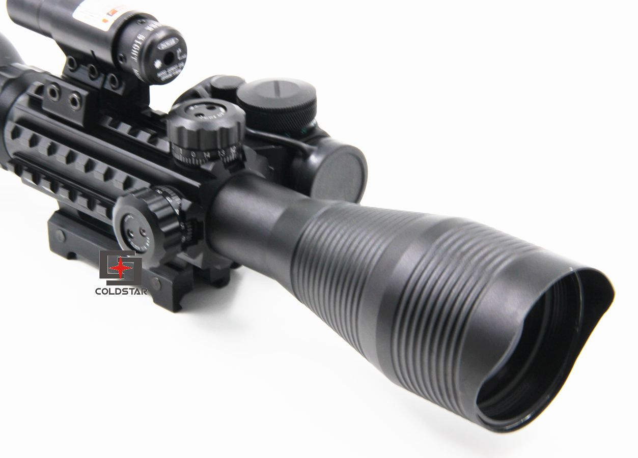 Sniper Scope Combo C4-12x50EG Rifle Scope W/ 1x24 Illuminated T-1 Red Green Dot Scope For Weapon And Gun Riflescopes Hunting