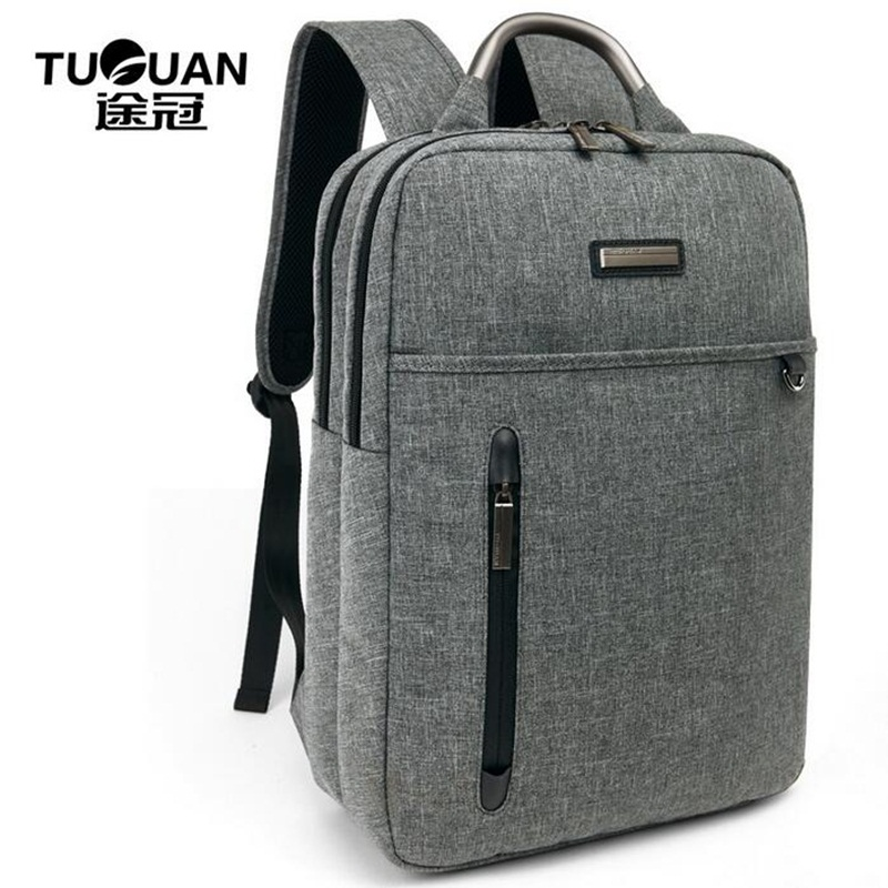 TUGUAN Men Business Backpack 15.6inch Laptop Back Pack Canvas Square Simple Travel Notebook School Bag Mochila Male Sac A Dos new hot brand canvas backpack bag for laptop 1113 inch travel business office worker bag school pack free drop shipping 1133