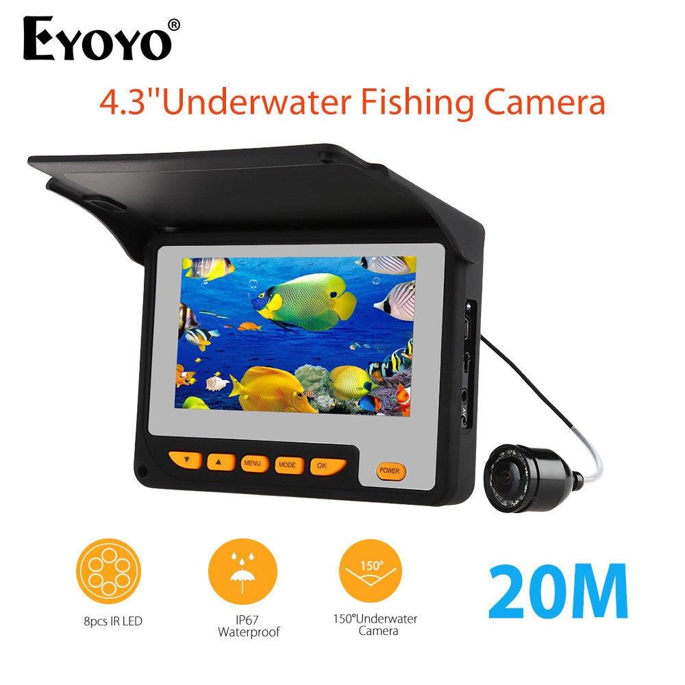 Eyoyo 4.3LCD TFT Monitor 20M 1.2MM DC5V 150degrees Fish Finder Detector Underwater Night Vision Waterproof Fishing Camera цена