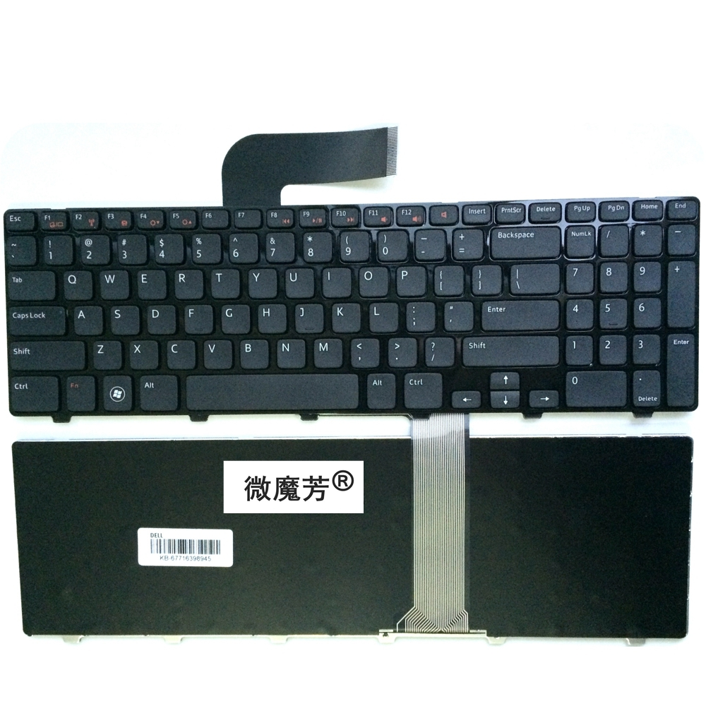 English laptop keyboard For Dell For Inspiron 15R N5110 M5110 N 5110 US free shipping original laptop for dell for inspiron 15r n5110 dc jack usb vga board 48 4if05 021 r4m5t dq15dn15