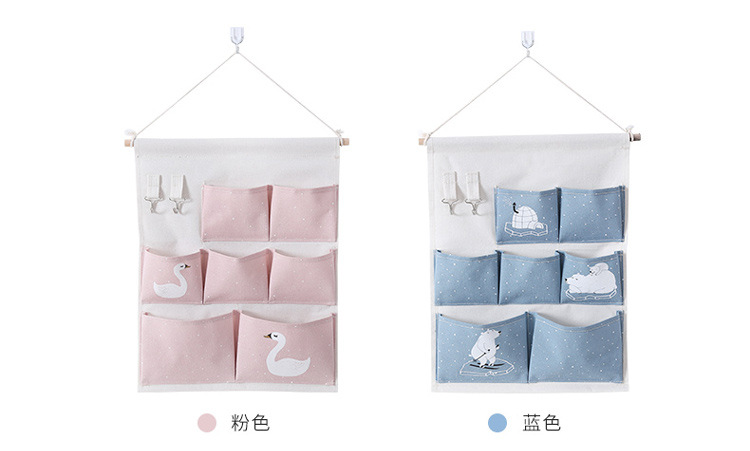 6 Pockets Wall Hanging Storage Bag Waterproof Sundries Bag - Home Organizer Best Children's Lighting & Home Decor Online Store