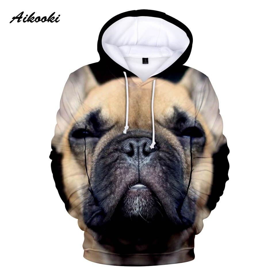 100% Wahr Aikooki Französisch Bulldog Hoodies Männer/frauen Mode Frühjahr Hoodie 3d Großen Französisch Bulldog Cooles Design Junge/mädchen Sweatshirts Mit Kapuze