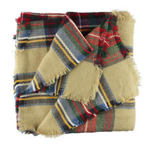Sali 2015 Hot Wool Blend Blanket Oversized Tartan Scarf Wrap Shawl Plaid Checked Pashmina
