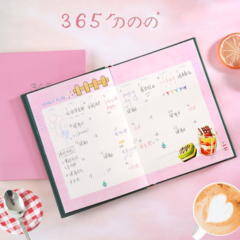 цена Kawaii Agenda 365 Days Diary Planner Organizer Notebook and Journals B6 Personal 32K Monthly Weekly Note Book Blank Notepad Cute онлайн в 2017 году