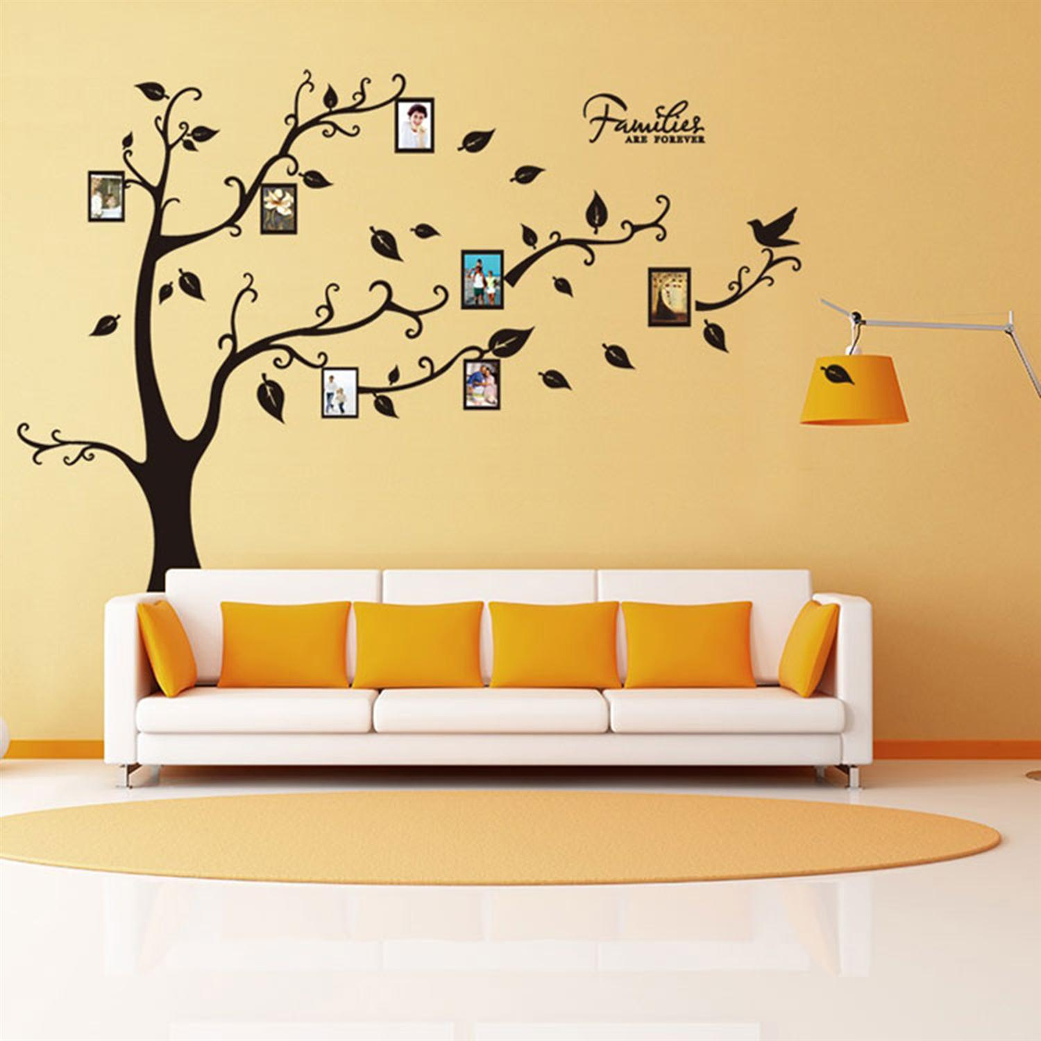DIY photo frame Tree wall stickers home decor Design living room ...