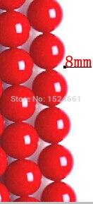 DIY 8mm45pcs Синтетические Красные Коралловые бусы stered бусинами полуфабрикатов комплект ** натуральный камень бусины камень лазурит