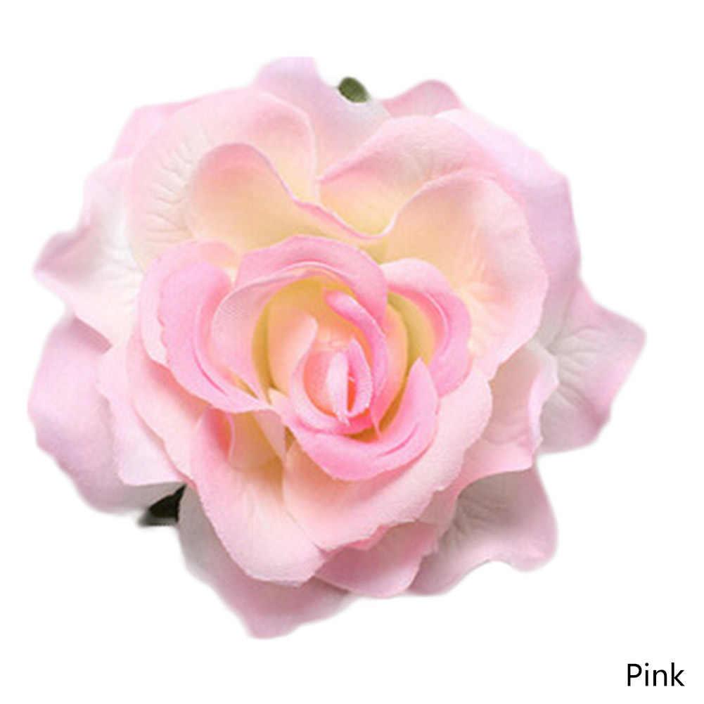 New Arrival Nhân Tạo Rose Floral Tóc Pins Đầu Cái Mũ Mặc Wedding Bridal Cô Gái Phụ Nữ Tóc Kẹp Tóc Phụ Kiện 7 Màu Sắc