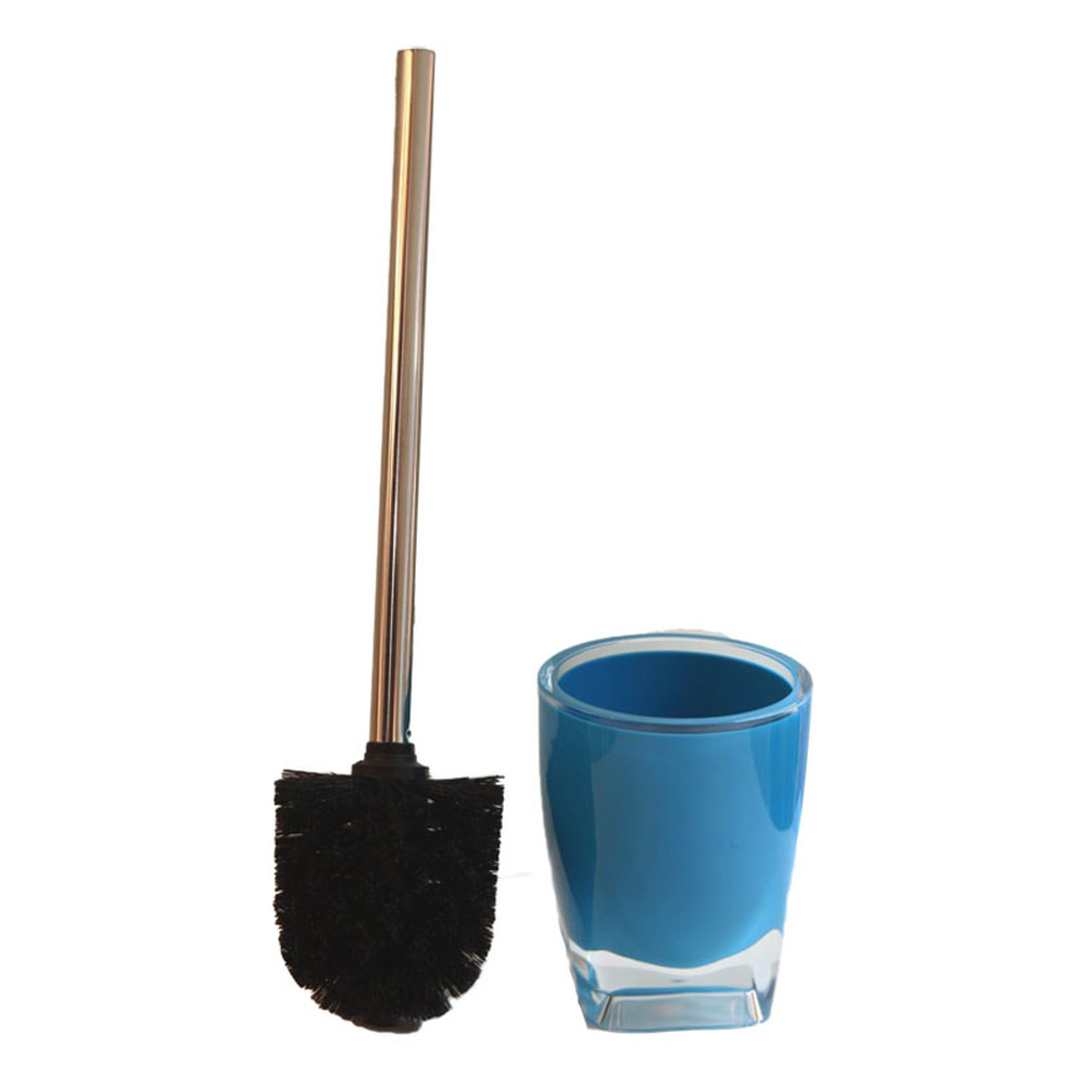 Creative blue stainless steel toilet brush toilet brush set bathroom cleaning brush toilet brush head LO87450 triangle cleaning brush