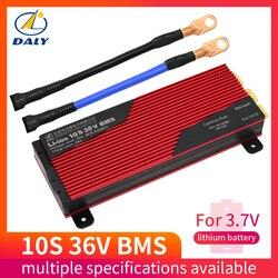 Daly bms 10s 80a 100a 200a lipo li-ion equilíbrio placa de proteção pcm bms pcb bateria 42v 3.7v 36v gestão da bateria systerm