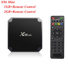 2 GB/16 GBAndroid 7.1X96 mini Inteligente Set-top BOX TV S905W Quad núcleo de Apoio 2.4G Sem Fio WI-FI Set Top Box Com Controle Remoto
