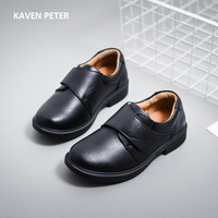 Genuine Leather Shoes Children 2017 Black Genuine Leather Formal Shoes Boys School Shoes Kids Casual Cow