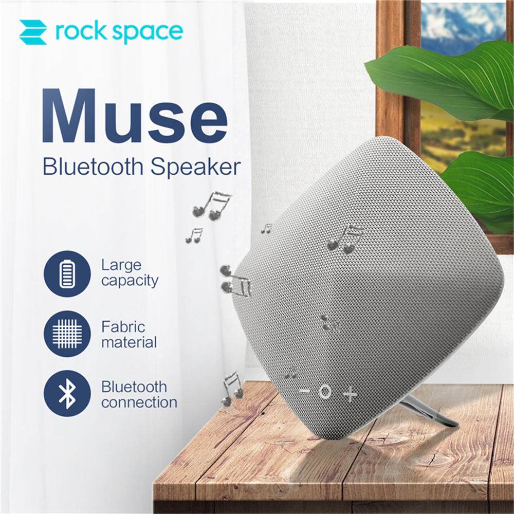 ROCKSPACE Muse Hifi Bluetooth Speaker Stereo Mp3 Player Music For Xiaomi iPhone Musical Audio Subwoofer Soundbar TF Card high uality portable mini wireless hopestar bluetooth speaker sound box subwoofer loudspeaker for iphone xiaomi support tf card