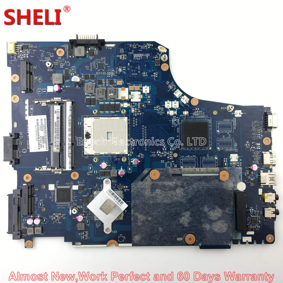SHELI MBBUX02001 MB.BUX02.001 Laptop Motherboard For Acer Aspire 7560 7560G Gateway NV75 NV75S P7YE5 LA-6991P Main Board Works new new for gateway nv55 nv57 nv75 nv77 5830t laptop keyboard