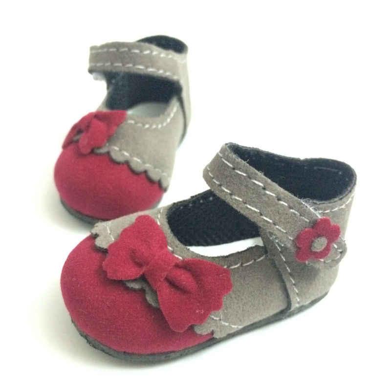 Одна пара 6 см BJD кукла обувь кроссовки в стиле кэжуал обувь для кукол Paola Reina, мини-игрушки сапоги с бантом, модные куклы аксессуары
