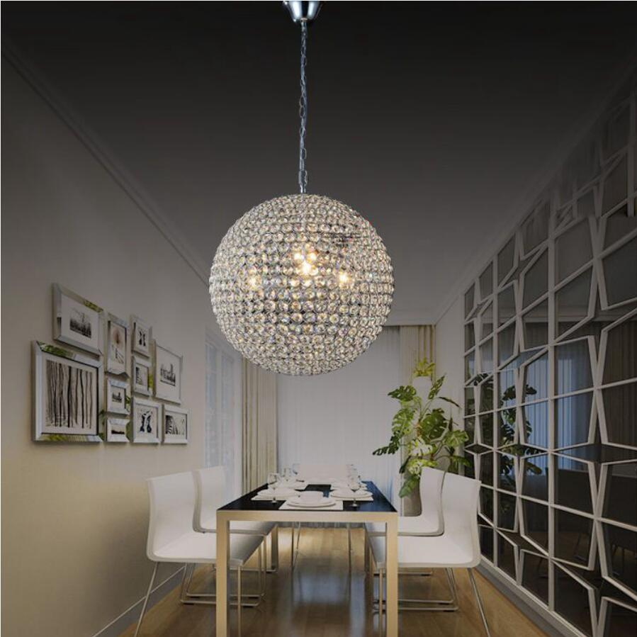 Buy round crystal chandelier luxury led lamp restaurant chandelier crystal for Crystal chandeliers for bedrooms